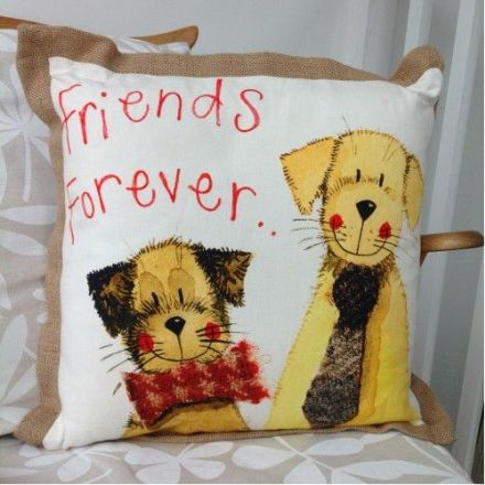 Forever Friends Cushion By Alex Clark